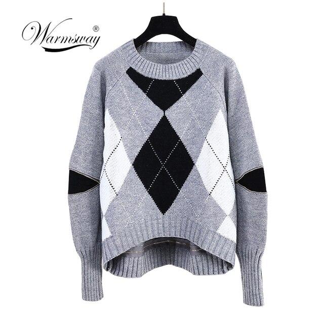 6cc87e5fa6c3 Harajuku 2019 New Spring Women High Low Sweater Oversized Jumper ...