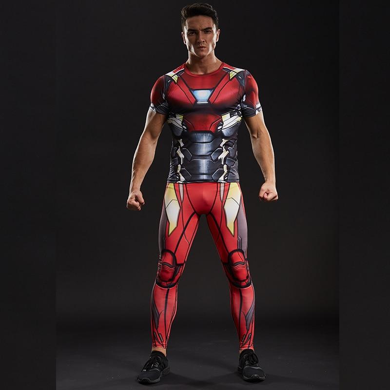 57c8bea404 Homem de ferro 3D Impresso T camisas Dos Homens Camisa De Compressão Marca novo  Spiderman Comics Cosplay Manga Curta Tops Para O Sexo Masculino de Fitness  ...