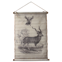 American Country Retro Flui Systems elk Cloth Painting Scrolls Poster Mural Paintings Home Decoration Banners Hanging Art a1
