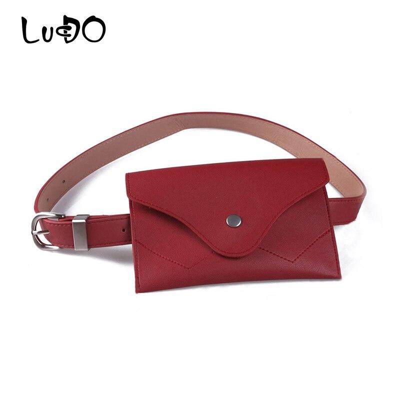 LUCDO Handy Women Waist Bags Women Designer Fanny Pack Fashion Belt Female Purse Leg Bum Bag Banana Waist Bag Ladies For To Belt