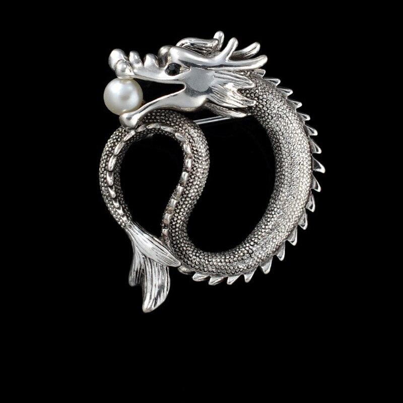 1 шт. старинный серебряный цвет человек безопасной Брошь дракон шарф пряжки Pin Up Броши для женщин натальные Jewelry vestidos femininos