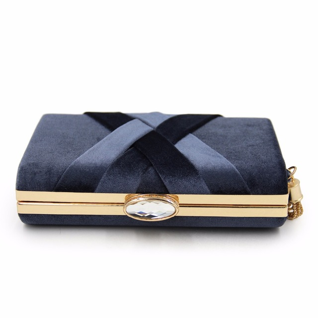 Women Suede Tassel Evening Bags 2