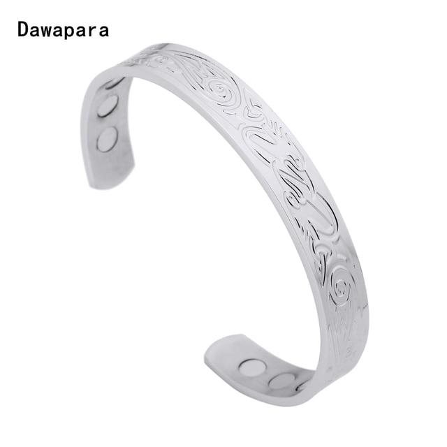Dawapara Irish Animal Bird Symbols Engraved Stainless Steel Bangles