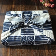 Japanese style table cloth cotton 100% / Furoshiki Japan classic Tradition Waves Clouds Grid printed 78cm Many Uses
