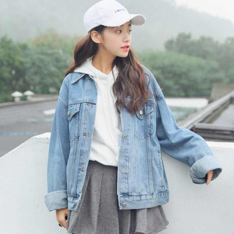 2018 Womens Harajuku Korean Retro Classic Casual Cardigan Windbreaker Jacket Female Cute Japanese Kawaii Bomber Coat For Women