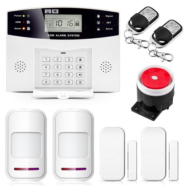 Беспроводной проводной PSTN GSM сигнализация системы 99 8 проводных зон суппорт реле выход умный дом управление Поддержка Android IOS APP