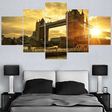 Famous Bridge Dusk Landscape Paintings For Bedroom Wall Art Home Decor Picture Canvas Painting Calligraphy Living Room