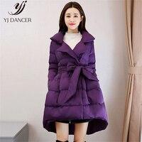 2018 модные новинка, модель высокого качества женские зимнее теплое пальто из хлопка словом талии Pettiskirt перо вниз хлопка зимнее пальто HJB242