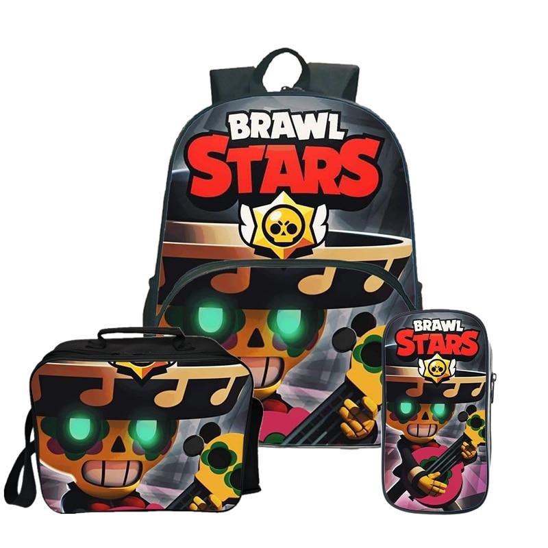 16 pouces sacs d'école bagarre étoiles sac à dos adolescent garçons filles Mochila déjeuner sac à dos enfants voyage sac à dos avec porte-crayon
