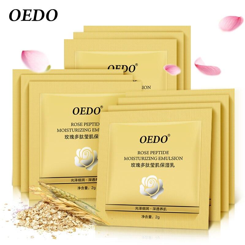 OEDO 10PCS Rose Peptide Moisturizing Emulsion Moisturizing Whitening Skin Care Face Serum Anti-Aging Water Lock Beauty Cream