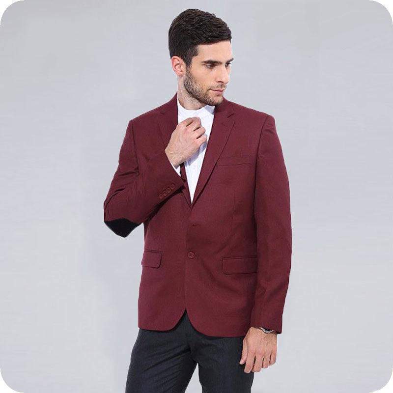 Latest Designs Black Men Suits Wedding Elbow Patches Groom Tuxedos Slim Fit Terno Masculino Male Blazers 2Pieces Costume Homme in Suits from Men 39 s Clothing