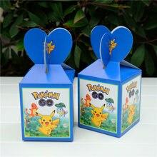 12 x pokemon caixa de presente crianças aniversário caixa de doces chá de fraldas favor festa deco suprimentos