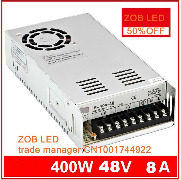 400W S400W-48V-7.5A LED ROHS Switching Power Supply,8A,85-265AC input,power suply 48V Output CE ROSH freeshipoing 360w led switching power supply 85 265ac input 12v 30a for led strip light power suply ce rosh 12 output