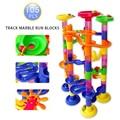 Free  shipping 105pcs DIY Construction Marble Race Run Maze Balls Track Plastic House Building Blocks Toys for Christmas No Box