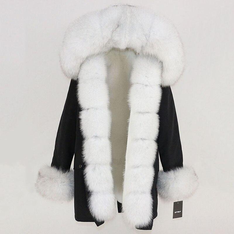 OFTBUY Waterproof Long Parka Winter Jacket Women Real Fur Coat Natural Fox Fur Collar Hood Thick Warm Streetwear Detachable New 99
