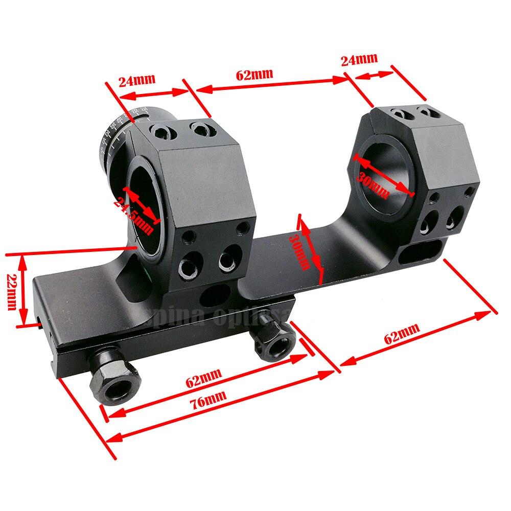 Anneaux de montage de Rail de tisserand Picatinny bidirectionnel décalé de chasse 24.5/30mm avec Kit d'indicateur de Cosine d'angle et niveau à bulle