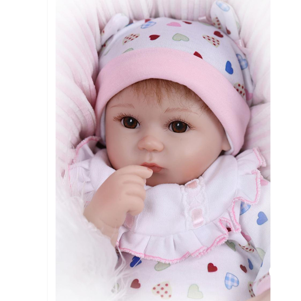 ФОТО 37cm Real Looking Newborn Doll Silicone Reborn Dolls Toys for Children's Gift, 15