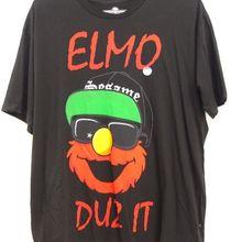 0986e030 New PacSun Mens Sesame Street Elmo Duz It Cotton Graphic Tee T-Shirt Size  Large