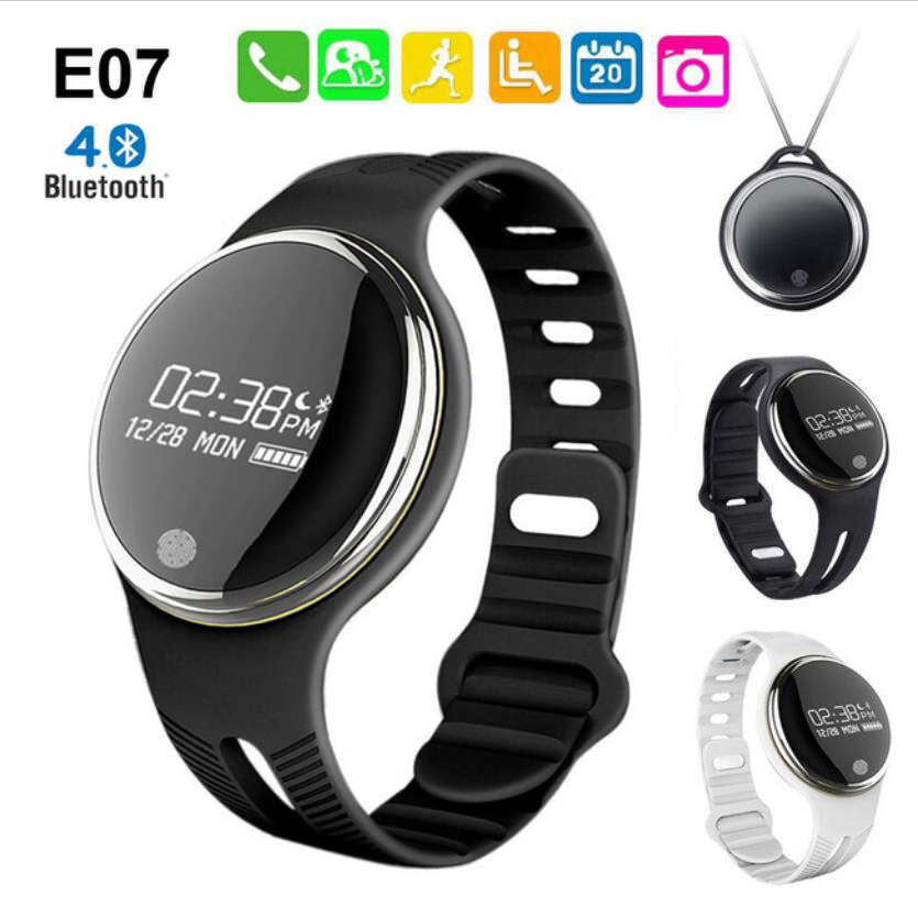 imágenes para Excelvan E07 Bluetooth 4.0 Deportes Pulsera Inteligente Impermeable Rastreador de Ejercicios Smartband Recordatorio de Llamada banda inteligente para Android iOS