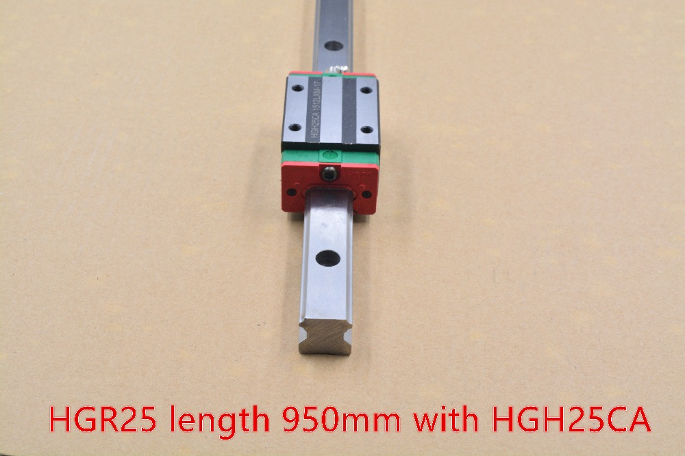 HG linear guide HGR25 width 23mm length 950mm with HGH25CA linear guide slide rail for cnc xyz axis HGH25CA1R950 1pcs