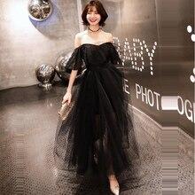 Wedding Dress Black Boat Neck Dresses 2019 Backless Off The Shoulder Plus Size Short Sleeve Pleat Vestido De Novia E681