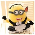 Despicable Me 2 big minion Movie high quality toy with 3D eyes stuffed plush toy about 25cm cute lady Despicable Me doll t759