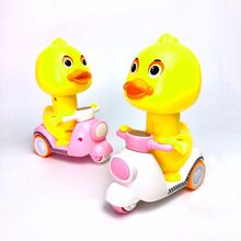Pressure-type yellow duck tremble with explosive power tricycle Mengmeng motorcycle toy gift toys for children