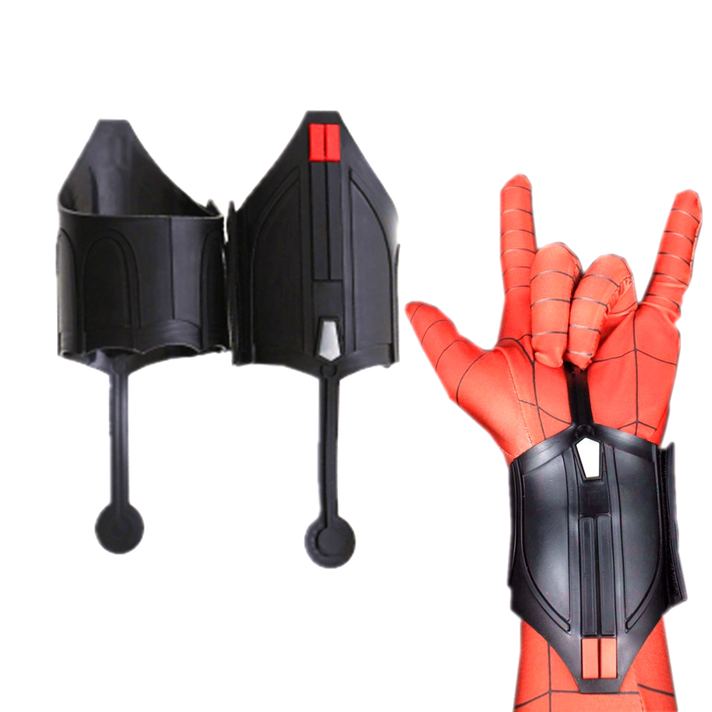 2pcs Spider Man Web Shooter Spiderman Homecoming Cosplay Costume Peter Parker Accessories Adult Men Spiderman Carnival Props