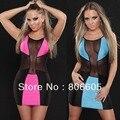 Sexy Women Clubwear Club Mini Dress Lady Party Dress Sleeveless One Size UK Style With G-string