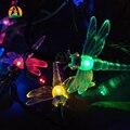 Solar Party Festival Wedding Decorative Lighting Strings Outdoor Dragonfly Solar LED Garlands String Lights Fariy 10M 60LED