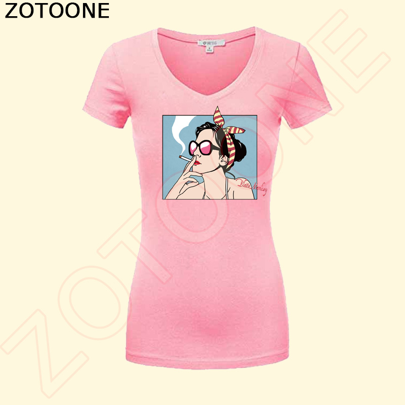 ZOTOONE Fashion Girl Letter Patch Iron On Transfers For Clothing Girl T shirt Dresses Stickers Heat Press DIY Appliqued Printing in Patches from Home Garden