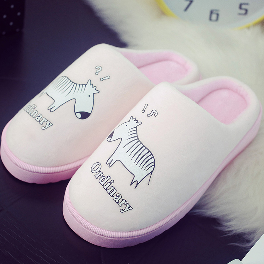 Fashion Autumn and winter lovers warm cotton slippers Men and women  room indoor thermal proof semi package with plush slippers цена и фото