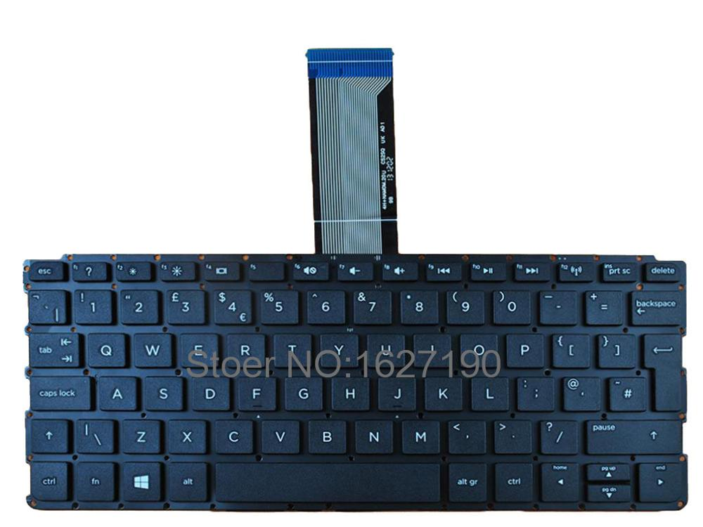 US $13 6 |UK Laptop Keyboard for HP PAVILION 10 E BLACK Without FRAME Win8  New Notebook Keyboards-in Replacement Keyboards from Computer & Office on