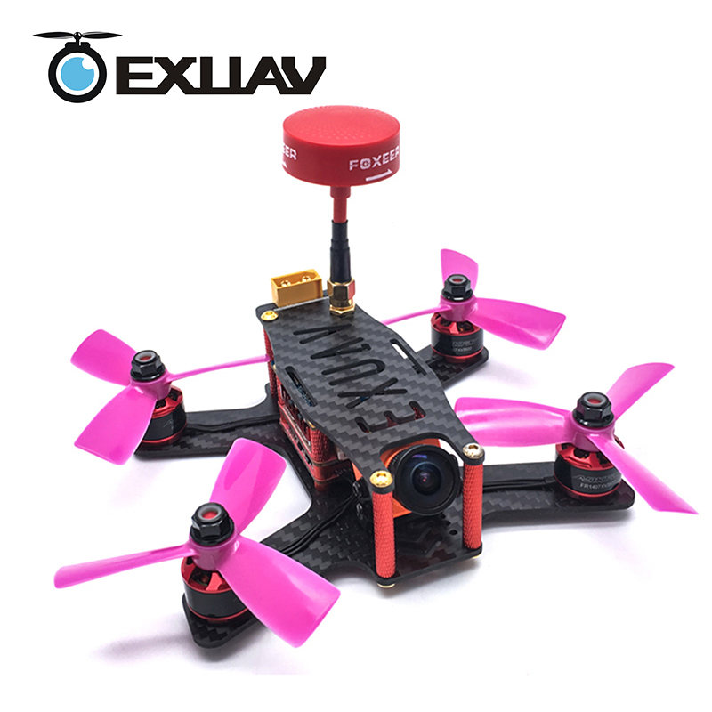 EXUAV 133 Aerial Photograph Racing Drone RunCam Split 133MM Wheelbase 2mm Arms Carbon Fiber RC FPV Frame Kit H Structure DIY Toy awesome f100 100mm quadcopter frame kit wheelbase mini four axis aircraft pure carbon fiber for fpv rc racing drone frame kit