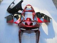 Aftermarket body parts fairing kit For Kawasaki ZX9R 98 99 red black bodywork fairings set ninja zx9R 1998 1999 XG03