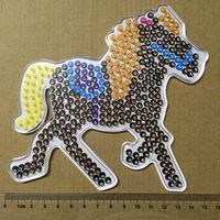 8Piece 5mm Hama Beads Big Template With Colore Paper Plastic Stencil Jigsaw Perler Beads Diy Transparent