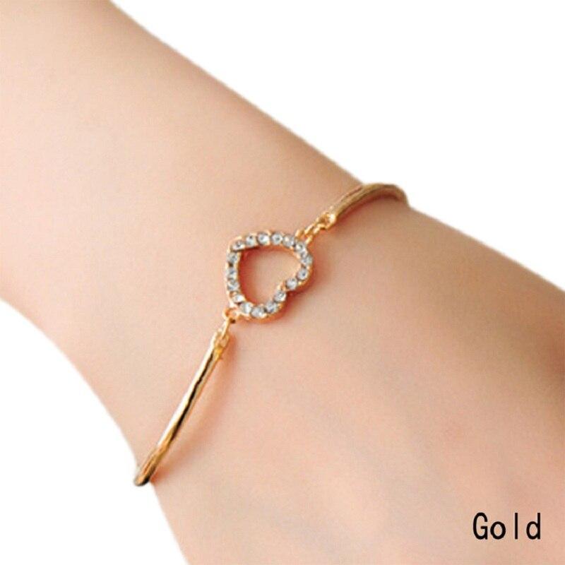 Romantic Love Heart Shaped Charm Bracelets Bangles Jewelry For Women