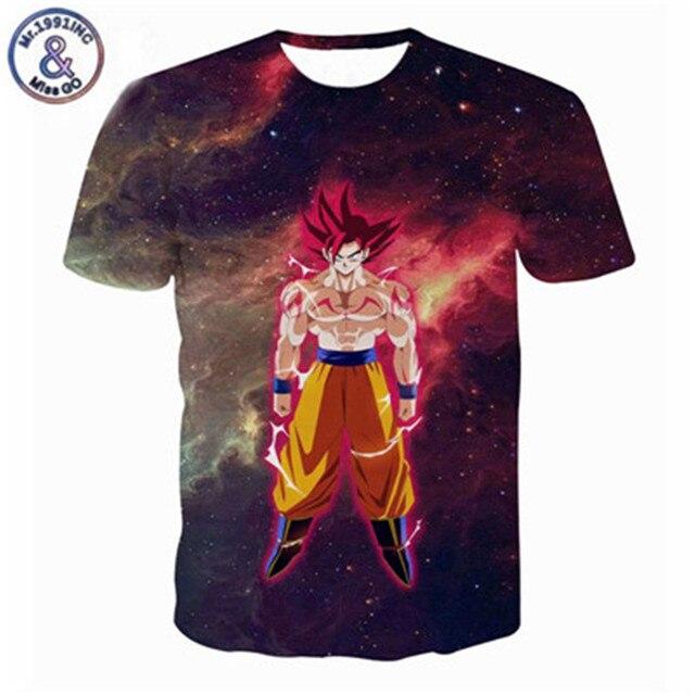 Newest Galaxy Space Anime Dragon Ball Z Goku 3d t shirts Fashion Summer Men/Boy Super Saiyan Tee Tops Clothes