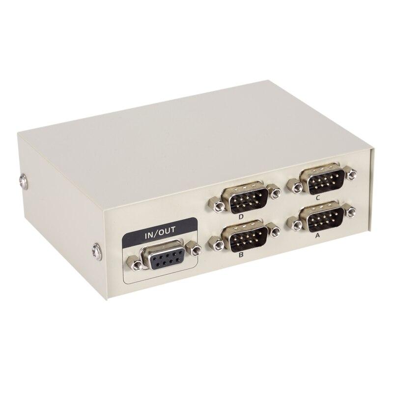 цена MT-Viki 4 Port DB9 RS232 Switch Serial COM Device Console Printer Sharing Selector Controller 232-4 онлайн в 2017 году