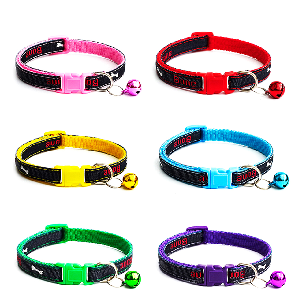12 Cat Collar Breakaway Collar For Cats With Bell Cat Collars Adjustable Quick Release Puppy Collar Chihuahua Cat Leash Pet Product (9)