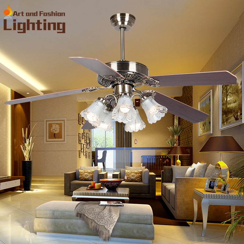 Aliexpress Buy Popular Ceiling Fan Lights Living Room Bedroom Dining LED Lamp E27 Source Decorative Lightings From Reliable Cree