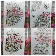 Buy 4Pcs/Lot A4 Circle Floral Flower DIY Layering Stencils Painting Scrapbook Coloring Embossing Album Decorative Card Template directly from merchant!