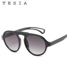 2019 okrągłe okulary przeciwsłoneczne damskie gradientowe szkła czerwone zielone czarne okulary moda osobowość okulary ochrona UV400 Lentes De Sol