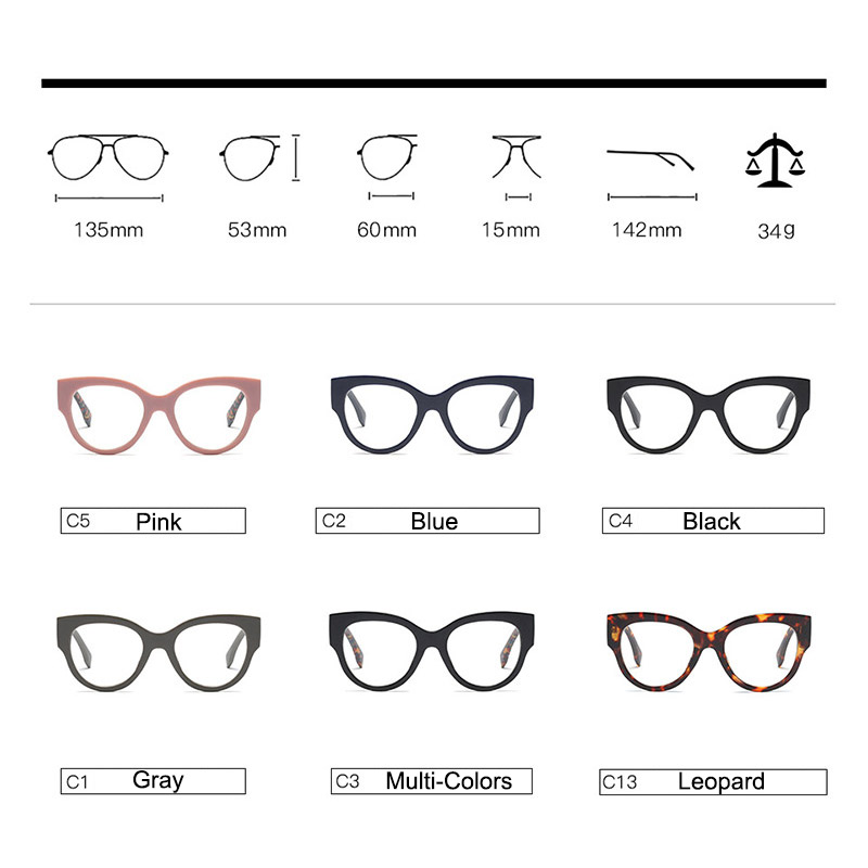 Woman Acetate Optical Eyeglasses Fashion Oversize Big Rim Frame Spectacles for Women Prescription Eyewear Glasses Frame in Women 39 s Eyewear Frames from Apparel Accessories