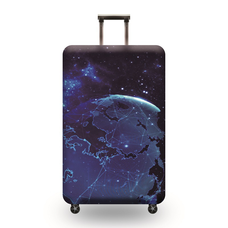 Washable Travel Luggage Cover Elastic Suitcase Trolley Protector Cover for 22-24 inch Luggage colorful galaxy bling bling stars