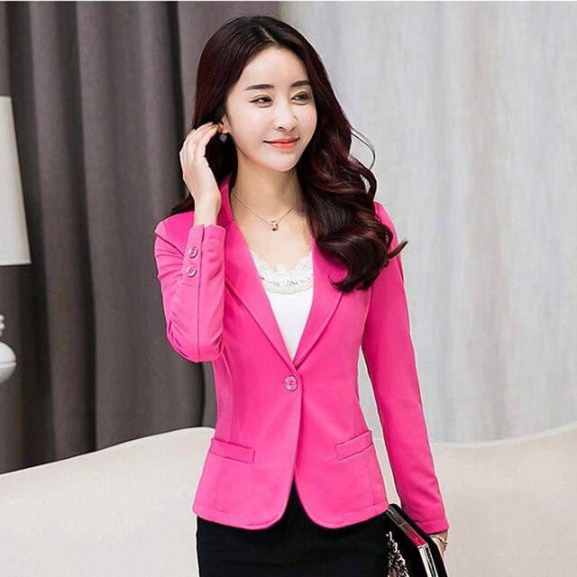 Blanc Costume Femme Veste Slim Fit Blazer Vêtements de Travail Plus taille  De Mode Casual Blazer 86b79272f34