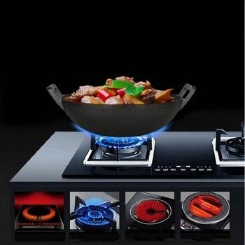 Iron wok without coating thick iron non stick pan 36cm manual Vintage iron cast iron pot