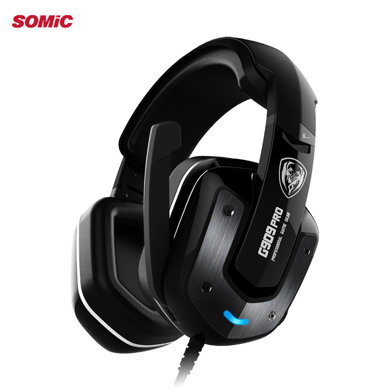 Original SOMIC G909 7.1 Sound Gaming Headphone Stereo Bass Gaming Headset with Mic Noise Cancelling Headphone for PC Gamers somic g951 original gaming headphone deep bass stereo sound usb headband with mic vibration led computer game headset