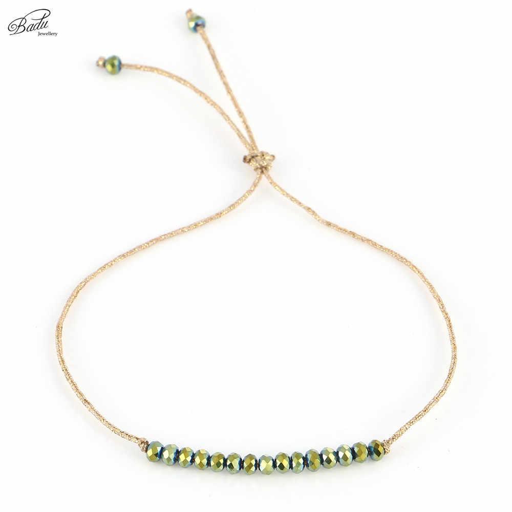 Badu браслет «Лучший Друг» женский счастливый Шарм маленькая золотая струна дружбы девушки браслеты Бохо модный подарок для ювелирных изделий