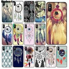 Babaite Veelkleurige Retro Bloem Dreamcatcher black Phone Case Shell voor Xiao mi mi note 3 6 8 8SE mi X 2 2 s Rode mi 5 plus Note 5(China)